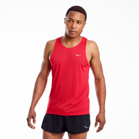 saucony Stopwatch Singlet Heren, saucony red